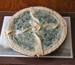 Catherine's stunning recreation of an 18th century sweet spinach tart proved to be a very enjoyable dessert